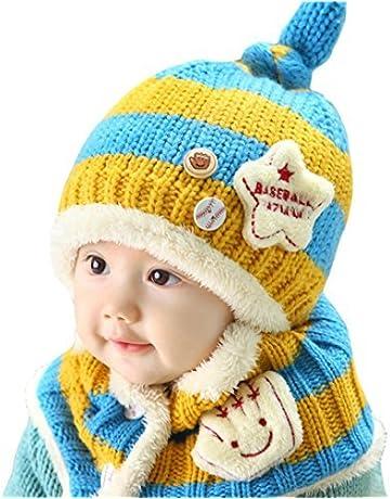BeautyLifeⓇ 1pcs Cappello da Sci Unisex Bambino Neonato Cute del Bambino  Inverno Caldo Sciarpa in 30fd05e62cbb