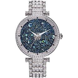 Princess Butterfly Lady Watch Full Of Austria Crystal HL639B Silver