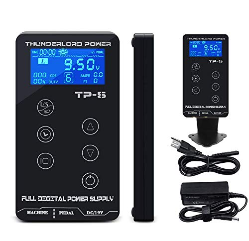 Tattoo Power Supply-BIOMASER TP-5 Touch Screen Intelligent Digital LCD Makeup Dual Tattoo Power Supplies Set with Cord Upgraded Version of HP-2 Tattoo Power Supply Machine Kit - Lcd Tattoo Power Supply