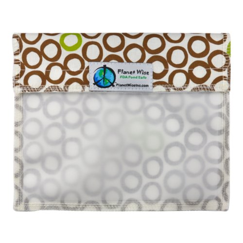 Planet Wise Window Sandwich Bag, Lime Cocoa Bean