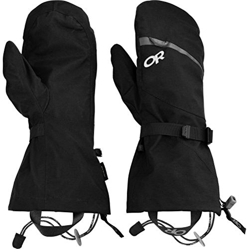 Outdoor Research Mt Baker Modular Mitts Black XL & Performance Headband Bundle