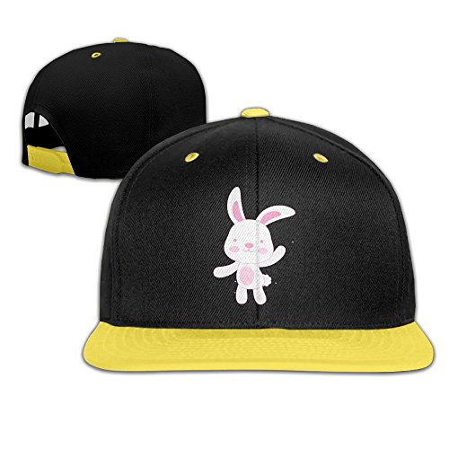 Kim Lennon Little Pink Rabbit Custom Sunbonnet Youth Hip Hop Hat Cap Yellow (Alex Toys Water Bottle)