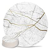 Chic D Gray Gold Absorbent Coaster for