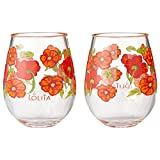 Enesco Designs by Lolita Best of the Bunch Acrylic Stemless Wine Glasses, Set of 2, 17 oz.