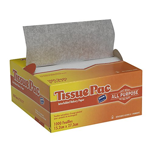 Georgia-Pacific Tissue-Pac T6 White Interfolded Handling Tissue, 10.75