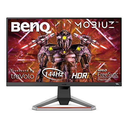 BenQ MOBIUZ EX2710 – Monitor Gaming de 27″ FullHD (1920×1080, 1ms, 144Hz, IPS, AMD Freesync Premium, compatible con PS5/Xbox x) – Gris Oscuro