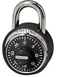 Master Lock Padlock, Standard Dial Combination Lock with Black Bumper, 1-7/8 in. Wide, 1500DCOV
