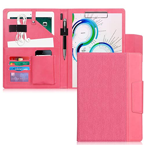 Toplive Portfolio Case Padfolio, Executive Business Document Organizer with Letter Size Clipboard, Business Card Holder, Tablet Sleeve(Up to 10.5