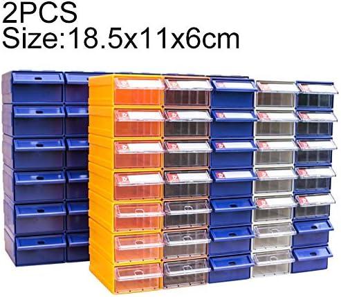 HZG 2 PCS肥厚複合プラスチック部品キャビネット引き出しタイプコンポーネントボックスビルディングブロックの材質ボックスハードウェアボックス、ランダムな色配達、サイズ:18.5センチメートルX 11センチメートルX 6センチメートル 職人スペシャルパッケージ