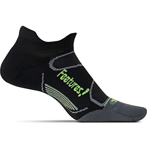 3 Pack Feetures Elite Light Cushion Color Black No Show Tab Size Medium