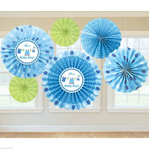 Shower with Love Boy Paper Fan Decorations]()