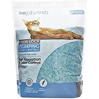 So Phresh Scoopable Odor-Lock Clumping Micro Crystal Cat Litter in Turquoise Silica, 8 LB, 8 LBS