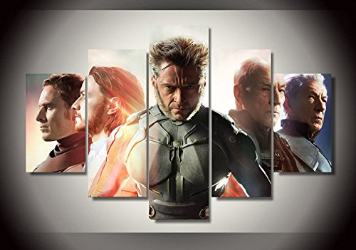 X-man wolverine Hugh Jackman print canvas poster decoration 5 pieces