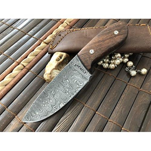damas main personnalisée de chasse couteau avec étui en cuir ... c519c46e9dc