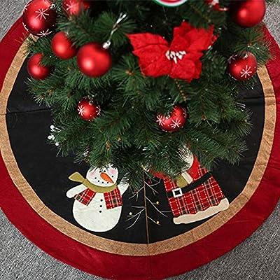 LINAG Suave Falda de Árbol de Navidad Redondo Falda de Árbol con ...