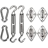 Ollieroo Shade Sail Hardware Kit for Rectangle and Square Sun Shade Sail Installation 8 Inches Silver