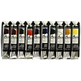 Grumbacher Pre-tested Oil Paint, 24ml/0.81 oz Tube, 10-Color Set