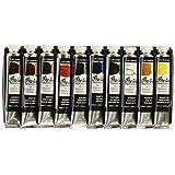 Grumbacher Pre-tested Oil Paint, 24ml/0.81 oz Tube, 10-Color Set