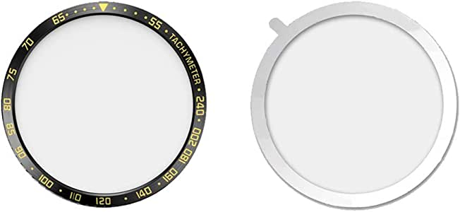 ZBmiluddeer Watch Bezel Ring,Smart Watch Bezel Ring Protective Dial Cover Decor for Samsung S3 Galaxy46mm Black Golden