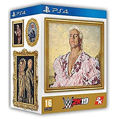 Image of PS4 WWE 2K19 Wooooo! Edition (IMPORT-REGION 2/PAL) with Ric Flair Funk Pop! Figure and More! Games