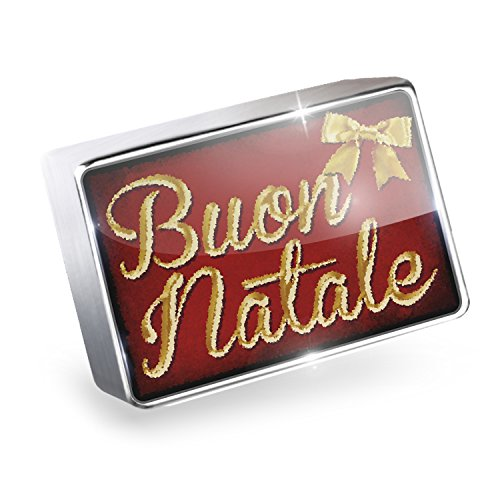NEONBLOND Floating Charm Merry Christmas in Italian from Italy, Vatican City, San Marino