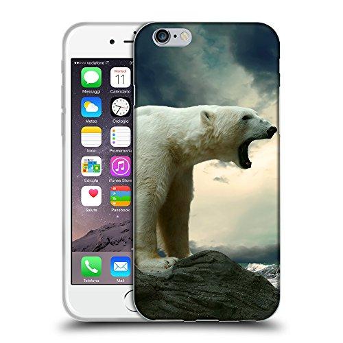 "Just Phone Cases Coque de Protection TPU Silicone Case pour // V00004115 Colère rugissements d'ours polaires // Apple iPhone 6 6S 6G PLUS 5.5"""