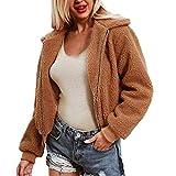 QIQIU ⭐️ Women's Artificial Hair Coat, Ladies Zipper Jacket Winter Parka Warm Outerwear Clearance