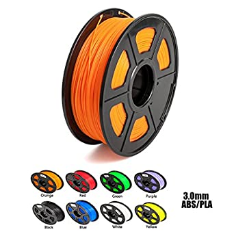 Aimple ABS 3D Printer Filament 3 mm Orange 1kg(2.2Lbs)/Spool-Dimensional Accuracy +/-0.02mm
