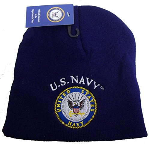 cca0b6ae6f5 Jual 8  UNITED STATES NAVY OFFICIAL BLUE EMBROIDERED BEANIE HAT cap ...