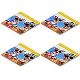 MSD Square Coasters Non-Slip Natural Rubber Desk