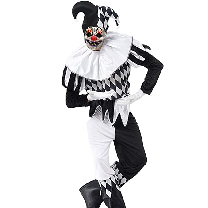 Halloween Costumes For Couples Scary.Amazon Com Pinklover Scary Killer Clown Costume Men S Deluxe Set