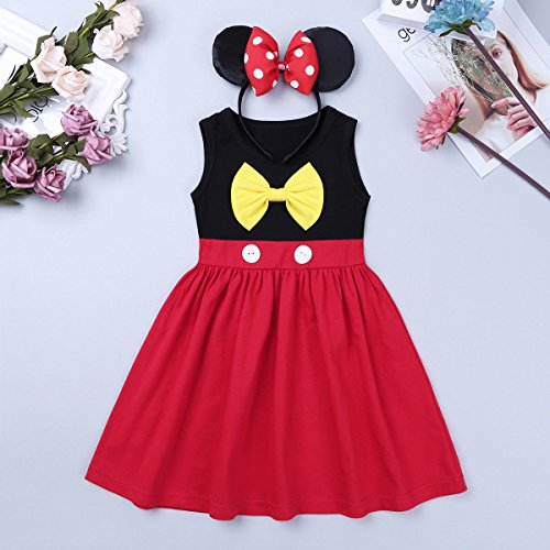Baby Girl Princess Costume Summer Dresses Minnie Cartoon Cosplay Birthday Party Outfits T Shirt Skirt Clothes Set 18-24 Months by IBTOM CASTLE (Image #6)