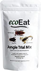 ecoEat Edible Bugs Mixed Trial Mix – 11g Bag- Edible Insects Glant Water Scorpion, Diving Beetle, Armor Tail Scorpion- Snack Food Gifts