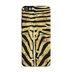 Cover It Up - Brown Zebra Black Mi5 Hard Case