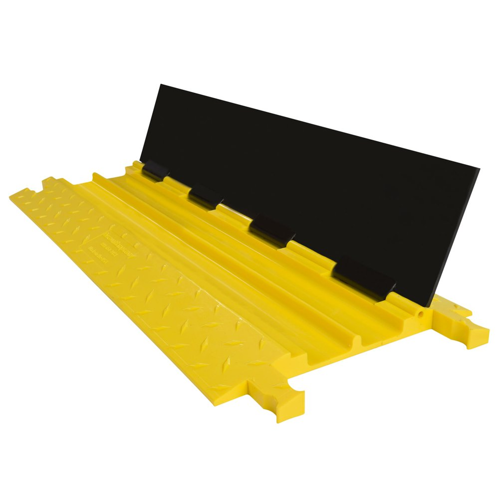 2-Channel Guardian Cable Protector Low-Profile Modular Polyurethane