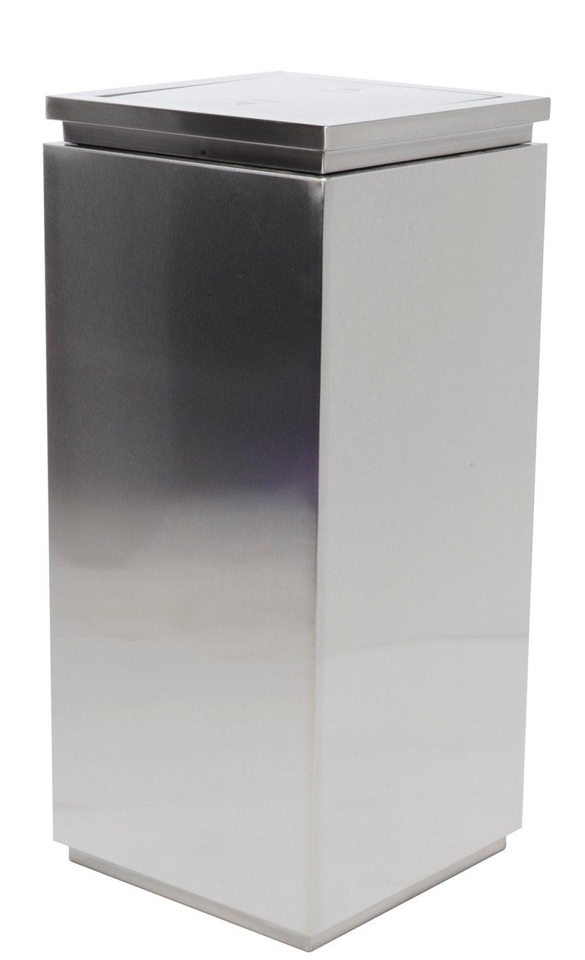 AMENITIES DEPOT 21 Gallon/80 Liter Stainless Steel Finger Print Resistant Swing Trash Can Garbage Bin(GPX-7C)