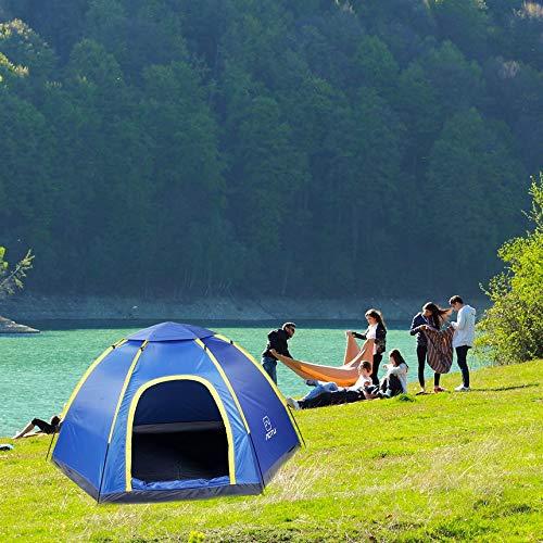 Pennymomo Grande Tente protectrice UV portative d'abri Hexagonal imperméable pour la Base extérieure campant Augmentant AT6503 d'escalade