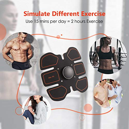 brinymo sport Muscle Toner Abdominal Toning Belt Workouts Fitness Portable AB Machine EMS Training for Abdomen/Arm/Leg Training (Only Abdominal)