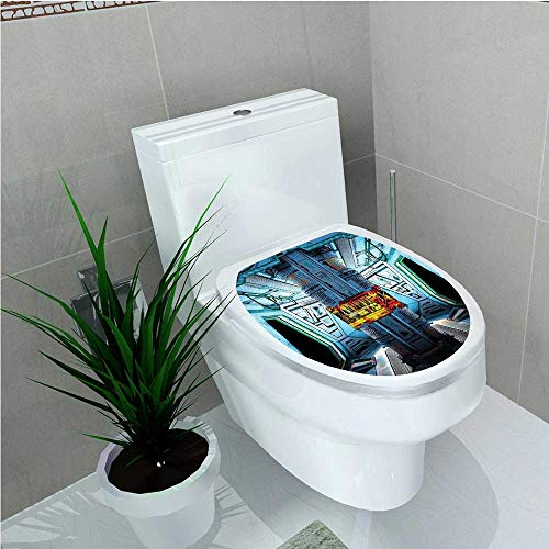 PRUNUS Decal Wall Art Decor Decor Space Ship Station Base Control Room Technology Elements Features Image Blue W6 x L8