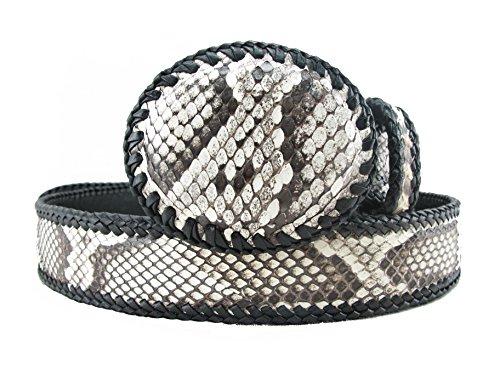 PELGIO Genuine Python Snake Skin Handmade Cowboy Dress Belt 46