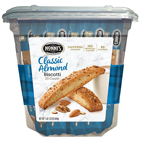 Nonni's Biscotti Value Pack, Originali Classic Almond, 25 Count, 1.1 Pound