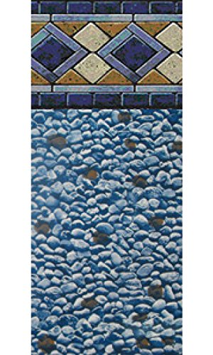 28 Foot Round 52 Inch Height Unibead Mosaic Diamond Above Ground Swimming Pool Liner-25 (Diamond Pool Liner)