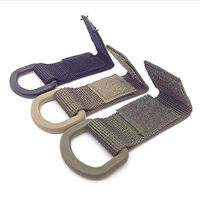3Anneaux en D Boucle en toile molle tactique extérieur multifonction crochet mousqueton pour un maximum de travail en nylon Sangle 35mm