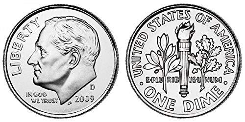 1987 P Roosevelt Uncirculated Dime ~ Raw Coin from Bank Roll
