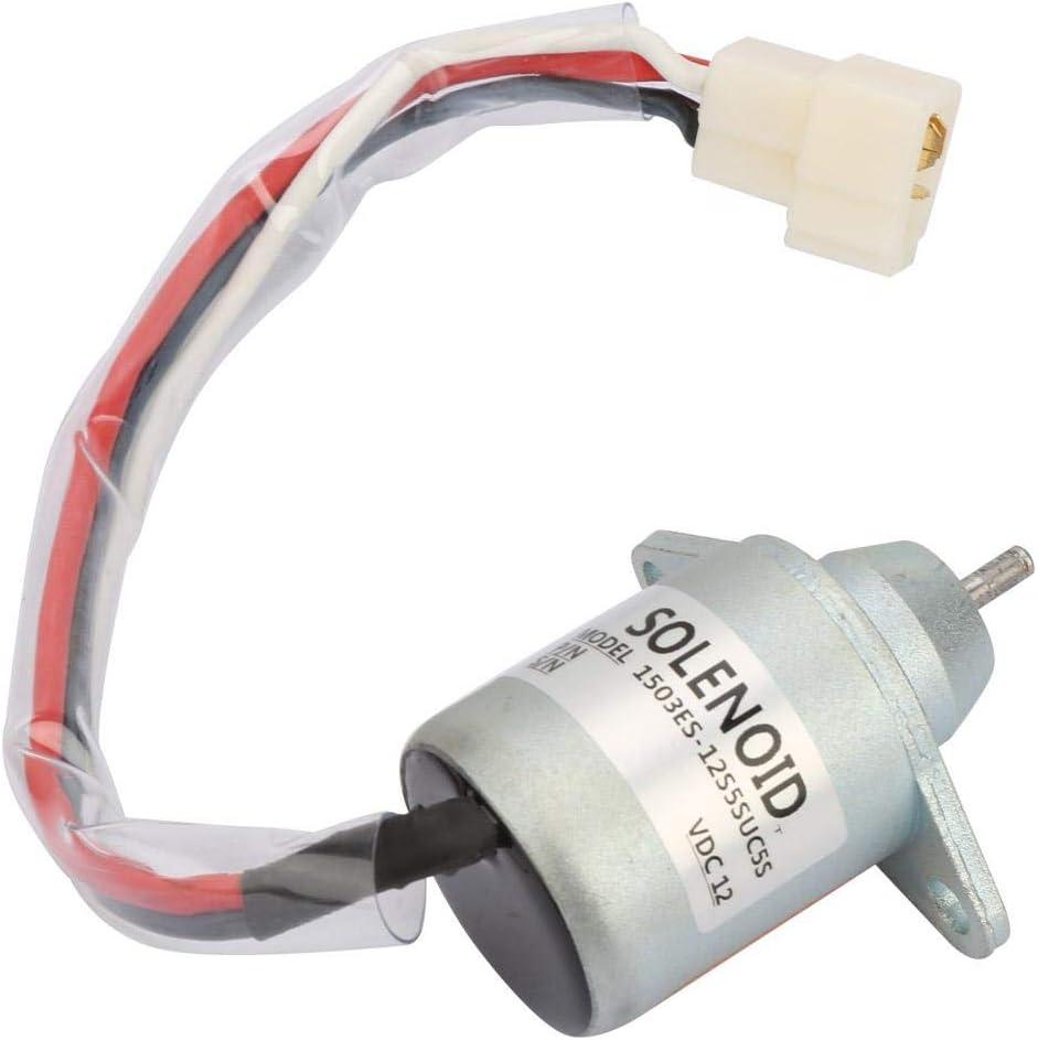 Spegnimento Solenoide 12V Motore Diesel Spegnimento Arresto Elettrovalvola Kit Sostituzione 1503ES-12S5SUC5S