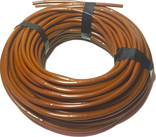 DIG 1/4-Inch x 100-Feet Irrigation/Hydroponics Dripline with 9-Inch Emitter Spacing (Brown) ()