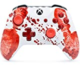 'Bloody Hands' Xbox One S Rapid Fire Custom Modded Controller 40 Mods for All Major Shooter Games, Auto Aim, Quick Scope, Auto Run, Sniper Breath, Jump Shot, Active Reload & More