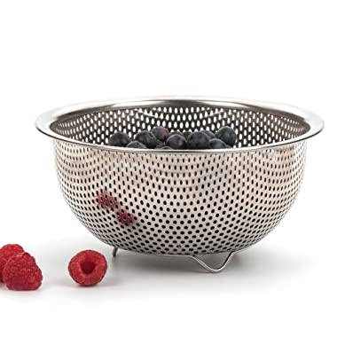 RSVP Endurance Precision Pierced Stainless Steel Berry Colander