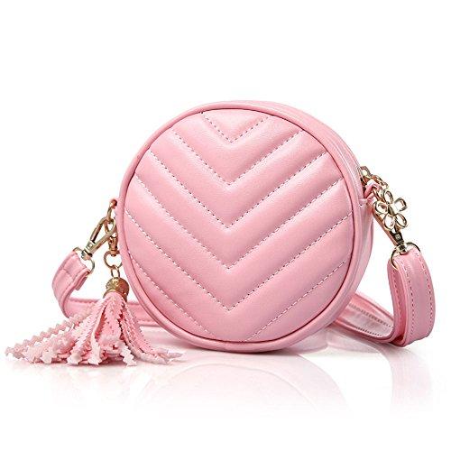 Pinky Family Girls' Purse Small Handbag Princess Crossbody Bag Kids Shoulder Purse (Pinky Flower)