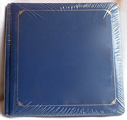 Creative Memories 12x12 Navy Blue Album with Fancy Gold Trim NIP